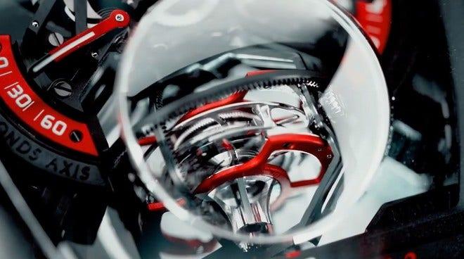 Herrenuhr Franck Muller Vanguard Tourbillon Revolution 3 mit zweifarbigem Zifferblatt und Alcantaraleder-Armband bei Brogle