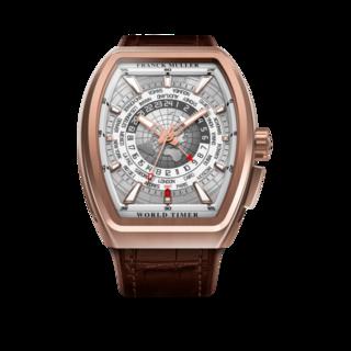 Franck Muller Herrenuhr Vanguard World Timer V-45-HU-5NBR-5N-(5N)