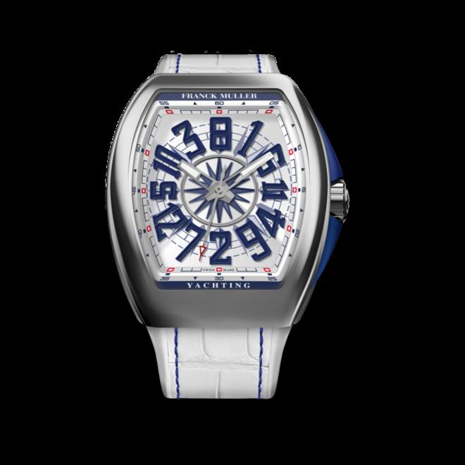 Herrenuhr Franck Muller Vanguard Yachting Crazy Hours mit weißem Zifferblatt und Alligatorenleder-Armband bei Brogle