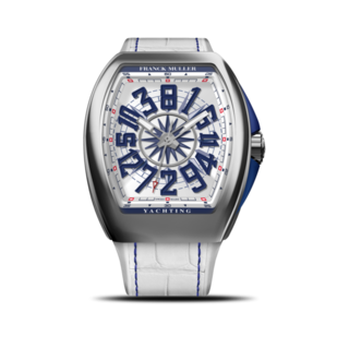 Franck Muller Herrenuhr Vanguard Yachting Crazy Hours V-45-CH-YACHT-(BL)-White-Dial-AC-ALLBLC