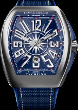 Herrenuhr Franck Muller Vanguard Yachting mit blauem Zifferblatt und Nylonarmband