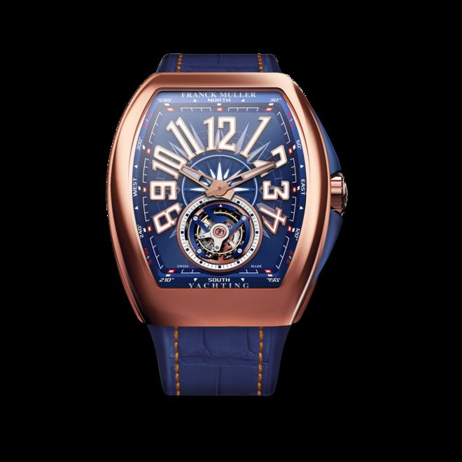Herrenuhr Franck Muller Yachting mit blauem Zifferblatt und Alligatorenleder-Armband bei Brogle