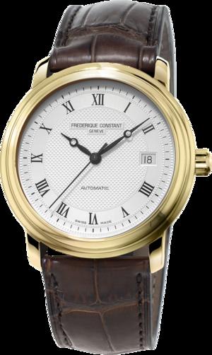 Herrenuhr Frederique Constant Classics Automatic mit silberfarbenem Zifferblatt und Kalbsleder-Armband