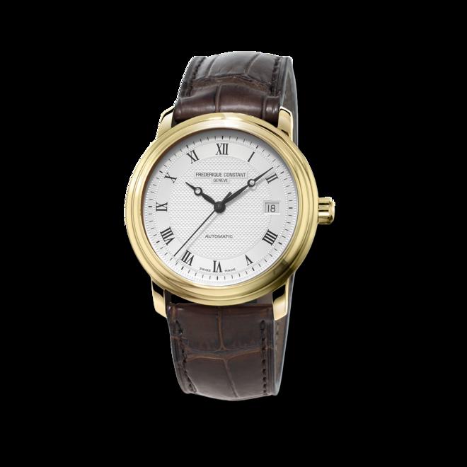 Herrenuhr Frederique Constant Classics Automatic mit silberfarbenem Zifferblatt und Kalbsleder-Armband bei Brogle