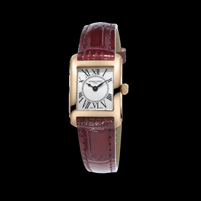 Damenuhr Frederique Constant Classics Carrée Ladies mit silberfarbenem Zifferblatt und Kalbsleder-Armband bei Brogle