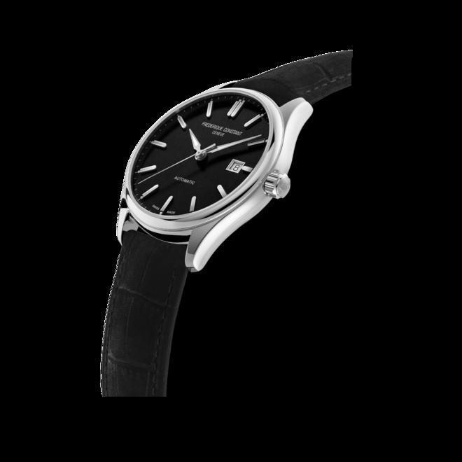 Herrenuhr Frederique Constant Classics Index Automatic mit schwarzem Zifferblatt und Kalbsleder-Armband bei Brogle