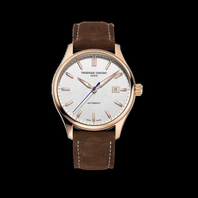 Herrenuhr Frederique Constant Classics Index Automatic mit silberfarbenem Zifferblatt und Kalbsleder-Armband bei Brogle