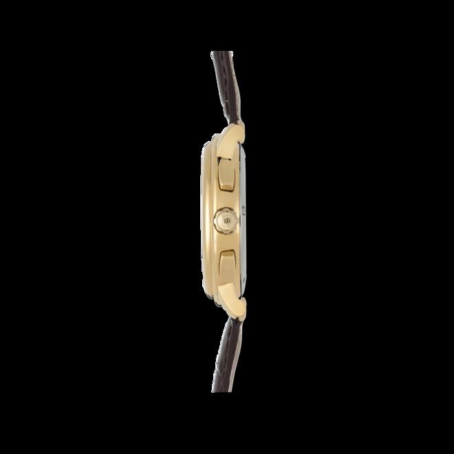 Herrenuhr Frederique Constant Classics Quartz Chronograph mit silberfarbenem Zifferblatt und Kalbsleder-Armband bei Brogle