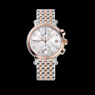 Frederique Constant Damenuhr Classics Quartz Chronograph Ladies FC-291MPWD2R2B