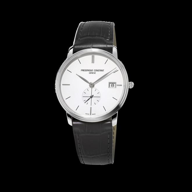 Herrenuhr Frederique Constant Slimline Gents Small Seconds mit weißem Zifferblatt und Kalbsleder-Armband bei Brogle