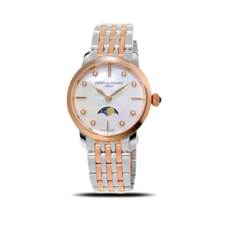 Frederique Constant Damenuhr Slimline Ladies Moonphase FC-206MPWD1S2B