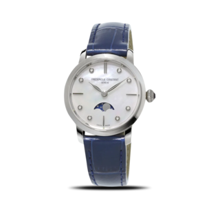 Frederique Constant Damenuhr Slimline Ladies Moonphase FC-206MPWD1S6
