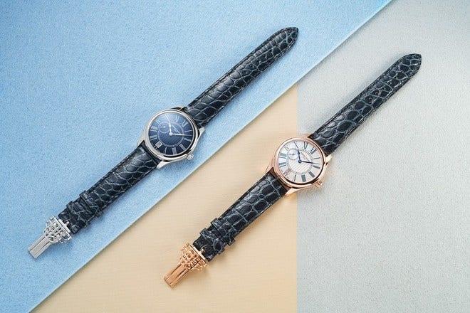 Damenuhr Frederique Constant Ladies Small Seconds mit perlmuttfarbenem Zifferblatt und Alligatorenleder-Armband bei Brogle