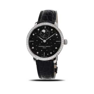 Frederique Constant Damenuhr Slimline Moonphase Stars Manufacture FC-701BSD3SD6