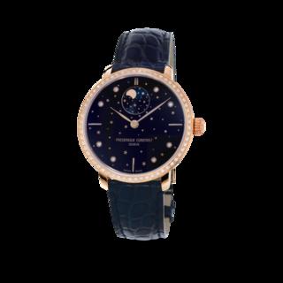 Frederique Constant Damenuhr Slimline Moonphase Stars Manufacture FC-701NSD3SD4