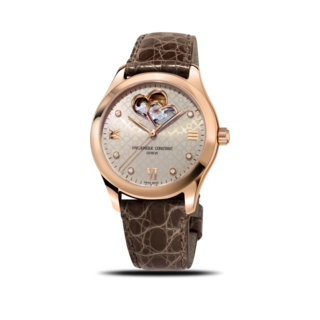 Frederique Constant Damenuhr Ladies Automatic Double Heart Beat FC-310LGDHB3B4