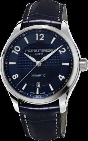 Herrenuhr Frederique Constant Runabout Automatic Limited Edition 42mm mit blauem Zifferblatt und Kalbsleder-Armband