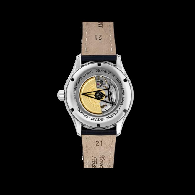 Herrenuhr Frederique Constant Runabout Automatic Limited Edition 42mm mit blauem Zifferblatt und Kalbsleder-Armband bei Brogle