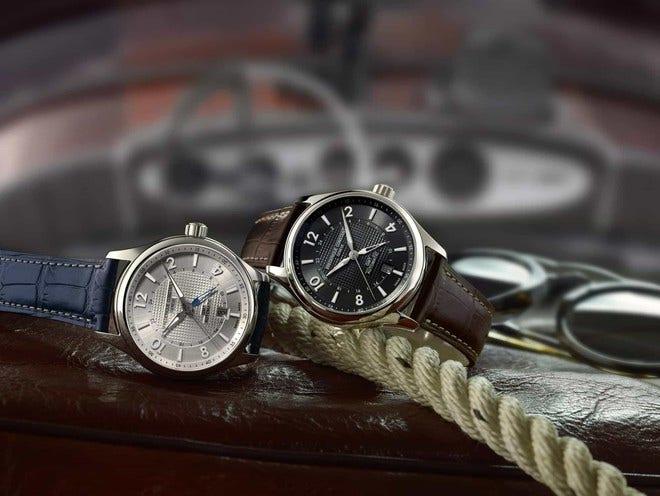 Herrenuhr Frederique Constant Runabout GMT Automatic Limited Edition 42mm mit schwarzem Zifferblatt und Kalbsleder-Armband bei Brogle