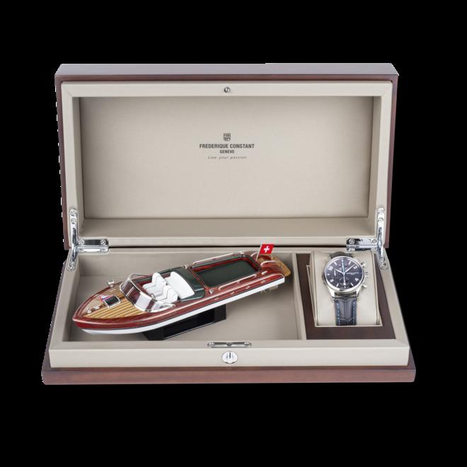 Herrenuhr Frederique Constant Runabout RHS Automatik Chronograph Limited Edition 42mm mit grauem Zifferblatt und Kalbsleder-Armband bei Brogle
