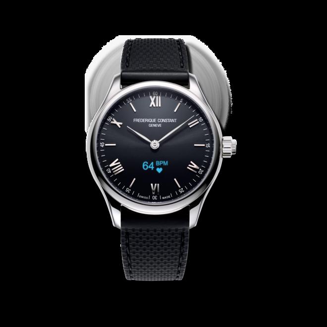 Smartwatch Frederique Constant Smartwatch Gents Vitality 42mm mit schwarzem Zifferblatt und Kautschukarmband bei Brogle