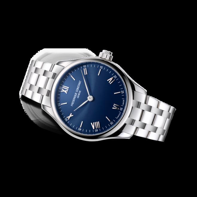 Smartwatch Frederique Constant Smartwatch Gents Vitality 42mm mit blauem Zifferblatt und Edelstahlarmband bei Brogle
