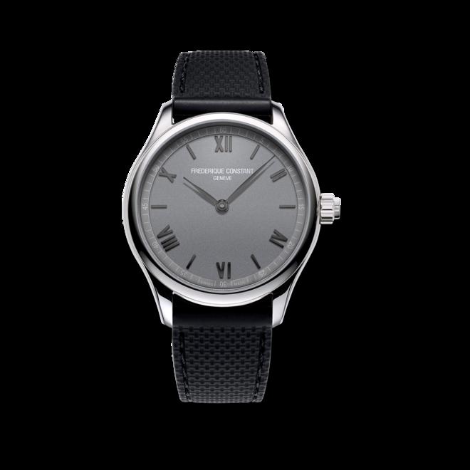 Smartwatch Frederique Constant Smartwatch Gents Vitality 42mm mit silberfarbenem Zifferblatt und Kautschukarmband bei Brogle