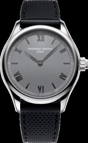 Smartwatch Frederique Constant Smartwatch Gents Vitality 42mm mit silberfarbenem Zifferblatt und Kautschukarmband