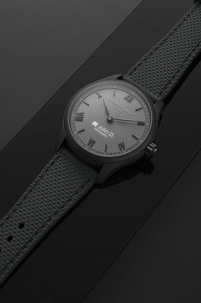 Smartwatch Frederique Constant Smartwatch Gents Vitality 42mm mit grauem Zifferblatt und Kautschukarmband bei Brogle