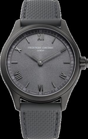Smartwatch Frederique Constant Smartwatch Gents Vitality 42mm mit grauem Zifferblatt und Kautschukarmband