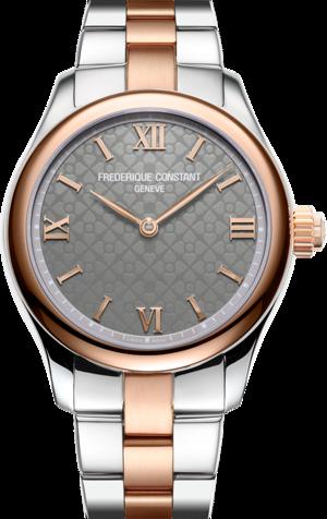 Smartwatch Frederique Constant Smartwatch Ladies Vitality 36mm mit grauem Zifferblatt und Edelstahlarmband