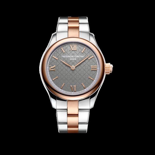 Smartwatch Frederique Constant Smartwatch Ladies Vitality 36mm mit grauem Zifferblatt und Edelstahlarmband bei Brogle