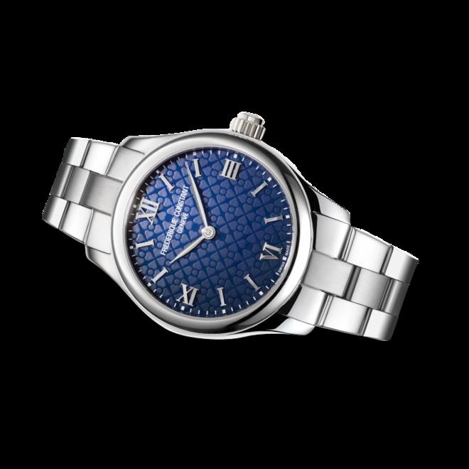 Smartwatch Frederique Constant Smartwatch Ladies Vitality 36mm mit blauem Zifferblatt und Edelstahlarmband bei Brogle