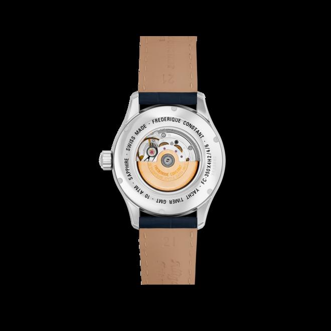Herrenuhr Frederique Constant Yacht Timer GMT mit blauem Zifferblatt und Kalbsleder-Armband bei Brogle