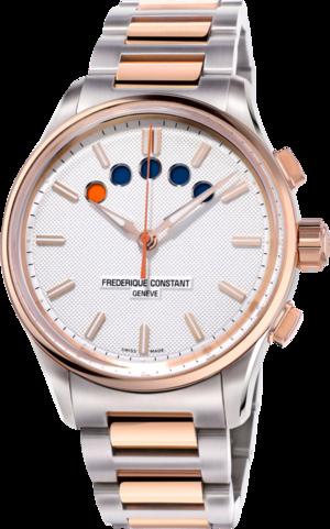 Herrenuhr Frederique Constant Yacht Timer Regatta Countdown mit silberfarbenem Zifferblatt und Edelstahlarmband