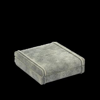 Friedrich Manschettenknopfetui Cubano mit elastischen Schlaufen - Grau 70021-480