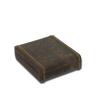 Friedrich Manschettenknopfetui mit elastischen Schlaufen Cubano - Braun 70021-479