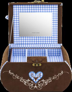 Friedrich Schmuckkästchen Sissi - Blau aus Velour