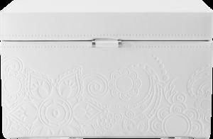 Friedrich Schmuckkoffer Mandala M - Weiß aus Feinsynthetik
