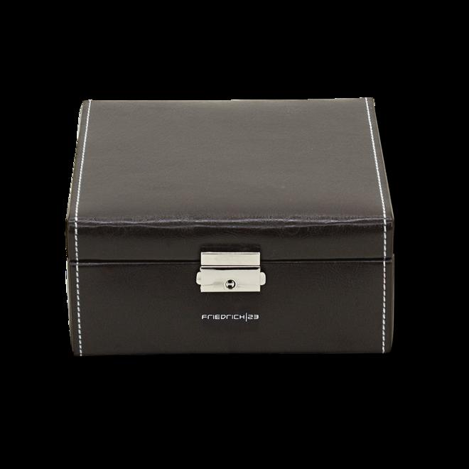 Friedrich Uhrenbox Bond 6 - Schwarz aus Feinsynthetik bei Brogle