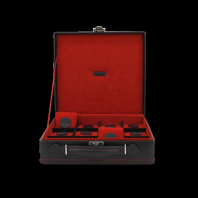 Friedrich Uhrenbox Carbon 12 - Schwarz aus Feinsynthetik bei Brogle