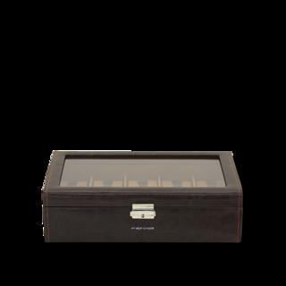 Friedrich Uhrenbox mit Sichtfenster Bond 10 - Braun 70021-381