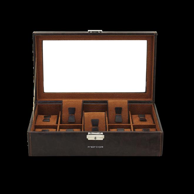 Friedrich Uhrenbox mit Sichtfenster Bond 10 - Braun aus Feinsynthetik bei Brogle