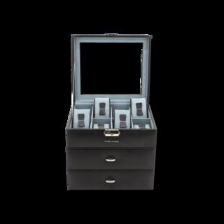 Friedrich Uhrenbox mit Sichtfenster Bond 24 - Schwarz 70021-431