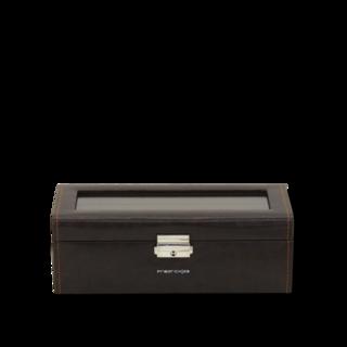 Friedrich Uhrenbox mit Sichtfenster Bond 4 - Braun 70021-385