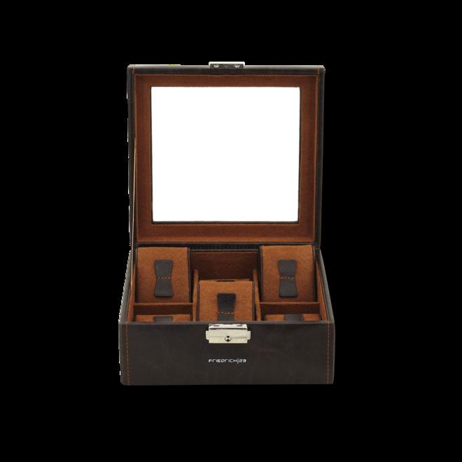 Friedrich Uhrenbox mit Sichtfenster Bond 6 - Braun aus Feinsynthetik bei Brogle