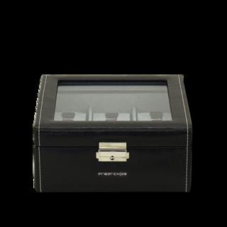 Friedrich Uhrenbox mit Sichtfenster Bond 6 - Schwarz 70021-382