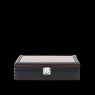 Friedrich Uhrenbox mit Sichtfenster Carbon 10 - Schwarz 70021-251