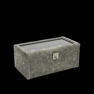 Friedrich Uhrenbox mit Sichtfenster Cubano 20 - Grau 70021-455