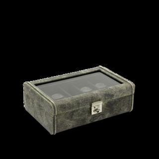 Friedrich Uhrenbox mit Sichtfenster Cubano 8 - Grau 70021-454